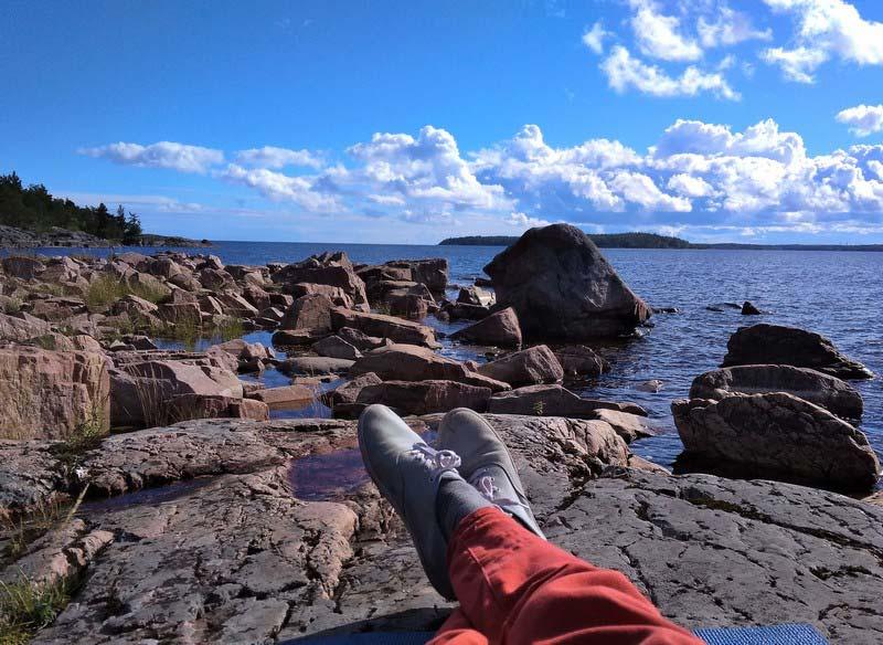 Парк Ладога отдых на острове